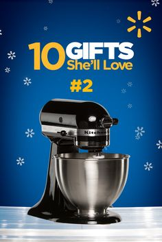KitchenAid Black Stand Mixer | Walmart - #2 of 10 gifts for your beloved. Check out all top 10 gifts she'll love.