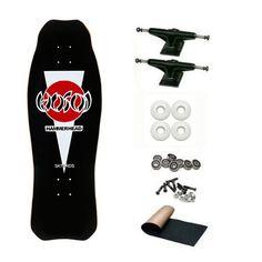 Christian Hosoi Black OG Hammerhead Old School Skateboard Deck Complete Review - http://ridgecrestreviews.com/christian-hosoi-black-og-hammerhead-old-school-skateboard-deck-complete-review/