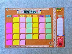 Paper Invader: DIY Cork board Calendar / Planner   http://www.paperinvader.blogspot.com/