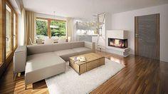 Projekt domu Ricardo XI 72,90 m² - koszt budowy - EXTRADOM Exterior, House Design, Couch, Furniture, Home Decor, Settee, Decoration Home, Sofa, Room Decor