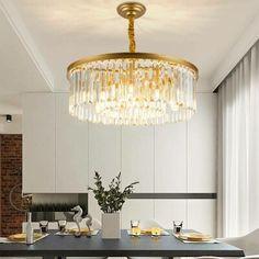Drum Chandelier, Modern Chandelier, Living Room Lighting, Home Lighting, Lighting Ideas, Crystal Light Fixture, Light Fixtures, Crystal Chandeliers, Ceiling Fixtures