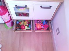 Création de tiroirs de rangement sous mini cuisine DUKTIG  #DUKTIG #ikea