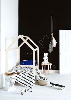 Cute #black and #white kids room