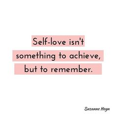Many people feel like self-love is something outside themselves that they must work to achieve. Viewed this way, not feeling self-love becomes another way you're failing yourself, more proof you're flawed or doomed to unhappiness.  The truth is that you already love yourself, you just have to tune into that part of you. Learn how to do that today on the blog, SuzanneHeyn.com, link in profile.  Read the article and then comment here and tell me about your experience of self-love.
