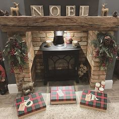 Off to the cinema later today so this morning I am Xmas shopping (online) trying to be super organised this year. Oak Beam Fireplace, Log Burner Fireplace, Cottage Fireplace, Home Fireplace, Living Room With Fireplace, Fireplaces, Wood Burner, Fireplace Ideas, Cottage Christmas