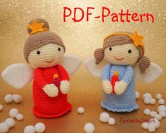 Crochet Pattern Christmas Angel Amigurumi por FantasticStitch