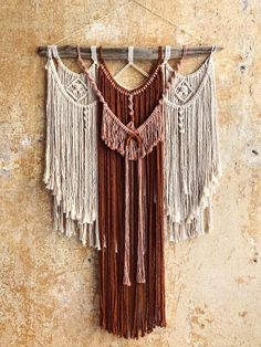 Add a Touch of Flair and Style to Your Home With Macrame Wall Hanging - Sesempatmu Saja Large Macrame Wall Hanging, Hanging Art, Hanging Paintings, Rope Art, Berlin, Macrame Art, Cross Patterns, Small Art, Wall Spaces