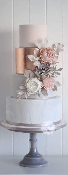 For those with a sweet tooth, selecting the perfect wedding cake for one's wedding can prove to be one of the favorite aspects of the wedding planning process. Beautiful Wedding Cakes, Beautiful Cakes, Amazing Cakes, Cake Trends, Cake Tasting, Wedding Cake Inspiration, Wedding Cake Designs, Fancy Cakes, Savoury Cake