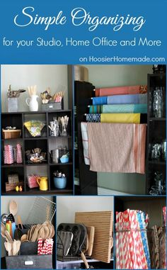 Simple Organizing for your Studio, Home Office and More | Details on HoosierHomemade.com