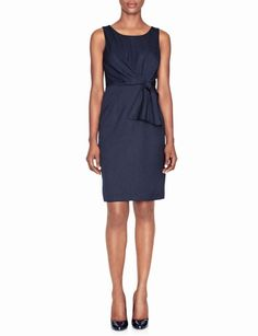 Paired with a jacket this Faux Tie Front Sheath Dress from The Limited is perfect business professional for the office.
