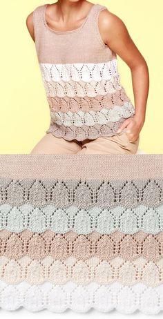 Free Summer Knitting Patterns 2019 – Knitting For Beginners 2020 Free Knitting Patterns For Women, Beginner Knitting Patterns, Knitting Designs, Knit Patterns, Sweater Patterns, Stitch Patterns, Summer Knitting, Lace Knitting, Knitting Sweaters