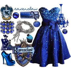 """Hogwarts Prom Series - Ravenclaw"" by skittlesrtasty on Polyvore"