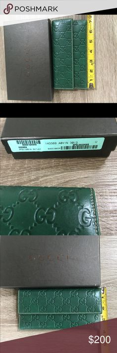Authentic Gucci Wallet brand new in box Beautiful authentic Gucci wallet that I never ended up using! New in box with box! Price is firm! Gucci Bags Wallets