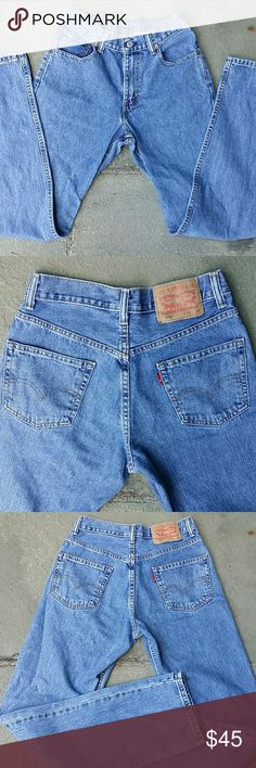 "Levi's 550 vintage highwaisted mom jeans 28"" waist,  32 "" inseam, 10 "" rise,  100% cotton, red tag, tag reads 29 x34. .but measures smaller due to shrinkage Levi's Jeans"