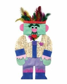 Paper Bag People Puppets are a great way to help kids create a dialogue about themselves and the world around them. Art Activities For Kids, Art For Kids, People Puppets, Holiday Crafts For Kids, Kids Crafts, Easy Crafts, Paper Bag Puppets, Paper Feathers, Puppet Crafts