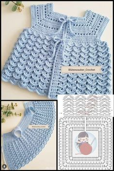 Crochet Toddler, Baby Girl Crochet, Crochet Baby Clothes, Crochet Baby Dress Pattern, Knit Crochet, Crochet Patterns, Baby Sweaters, Crochet Designs, Baby Knitting