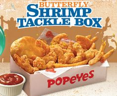 Popeyes Butterfly Shrimp Tackle Box #popeyes #tacklebox