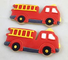 Fire Truck Cookies - $38.00/dozen