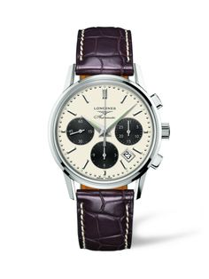 312759b3a88 Full details and images of the Longines Column-Wheel Chronograph Panda