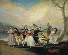 """""""La gallina ciega""""    Tapiz de Francisco de Goya Felipe V creó en 1720 la Real Fábrica de Tapices de Santa Bárbara para proveer a la Corte, tras la pérdida de los territorios españoles de Flandes y la interrupción de los envíos desde los talleres de Bruselas a la Corona de España. Goya pintó en teoría para la Fábrica desde 1775 hasta 1800, aunque su último trabajo fue en 1793 y tampoco pintó entre 1780 y 1786. Durante doce años, pues, creó no menos de sesenta y tres bocetos y cartones como…"""