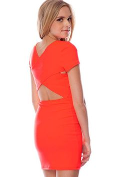 Go Back Across Dress in Neon Coral $21 at www.tobi.com  PERFECT SUMMER NIGHT DRESS