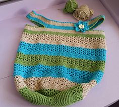Ravelry: The Vee Bag pattern by Fiona Hawke Ice Cotton, Chevron Purse, Crochet Bags, Tote Purse, Mississippi, Ravelry, Totes, Stripes, Purses