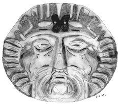 figura del dios celta ,dios de todos venerado durante el solsticio de invierno
