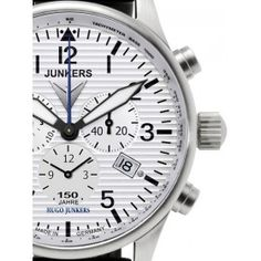 Reloj Junkers 6684-1 Cronógrafo 150 Aniversario Blanco « Relojesactuales