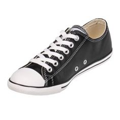 These low top converse are extra slim and light, giving them a more modern feel to the classic style. They're made or a durable, authentic leather helping them to withstand wear and tear. These are sleek enough to wear with a suit, and casual enough to wear wish shorts.