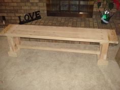 Hey, I found this really awesome Etsy listing at https://www.etsy.com/listing/175907713/wooden-bench-with-breadboards
