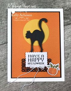 Check out my alternative ideas for the HELLO PUMPKIN kit! VIDEO TUTORIAL - Click for details - ️SHOP ️ - ORDER STAMPIN' UP! PRODUCTS ON-LINE. Purchase the $99 Starter Kit & enjoy a 20% discount! Tons of paper crafting ideas & FREE Online Classes. www.AStampAbove.com Up Halloween, Halloween Cards, Stampin Up Paper Pumpkin, Pumpkin Cards, Stamping Up Cards, Fall Cards, Card Sketches, Creative Cards, Homemade Cards