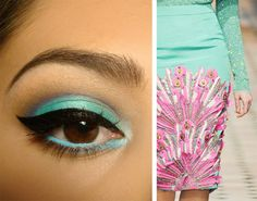This eye makeup is amazing.  Eccentric Pop - Gala Darling.