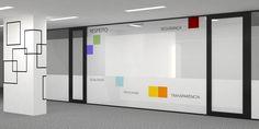 Projeto Desígnio Arquitetos GRUPO OK. Reforma do escritório e criação da identidade visual da empresa. #desígnioarquitetos#arquitetura #design #decoração