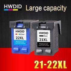 2 Pz XL Cartuccia di Inchiostro di ricambio per hp 21 22 cartucce 21 e 22 per Deskjet 3915 3920 D1320 D1455 F2100 F2280 F4180 stampante