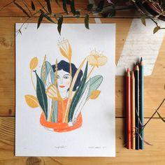 april - valeria cardetti illustration