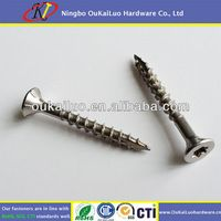 Stainless Steel Serrated-Thread Deck Screws for Plywood