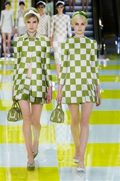 60's fashion is back for Spring 2013 fashion. Fun!