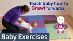 teach baby to crawl physical therapy - YouTube