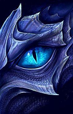 Saphira's eye - #Eye #Saphiras #tekenen