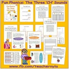 #Phonics printables: The 'Ch' blend actually has three different sounds. The most common is the ch heard in chip, then there is the ch heard in anchor and the ch heard in chef. In this booklet, these the word types are taught using illustrated silly short stories, word lists and examples in context.