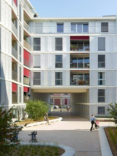 Image 1 of 12 from gallery of Petit Mont-Riond / CCHE. Photograph by Thomas Jantscher Residential Building Plan, Residential Architecture, Contemporary Architecture, Interior Architecture, Building Development, Keep The Lights On, Lausanne, Park City, Multi Story Building