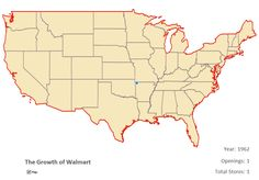 Watch The Spread of Walmart Across The Country In One Horrifying GIF