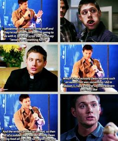 Dean and food...still a better love story than twilight.
