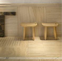 marble floor drain. Charles Zana - Architect