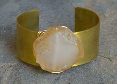 Natural Agate Gold-Filled Bracelet