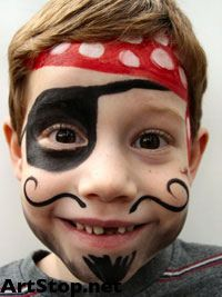 Boy Face Painting Pirate 1000 Ideas About On Pinterest
