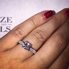 Recently Purchased Engagement Ring: Client chose a round brilliant cut certified center stone set within product #5475 - a classic style diamond setting featuring 10 round brilliant white diamonds .19ctw in 18k white gold.  Firenze Jewels Style #5475 Link in bio.  #diamonds #newyork #wedding #bridaljewelry #bride #gifts #diamonddistrict #nyc #instajewels #firenzejewels #instagood #sparkle #bling #design #designerjewelry #love #jewelers #47thstreet #sparkle #bling #instajewelry…