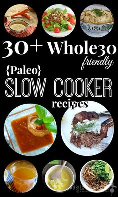 30+ Whole-30 Friendly Slow Cooker Recipes | Rubies & Radishes #paleo