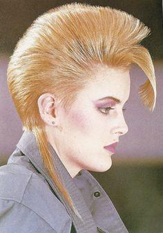High maintenance 80s hair style!