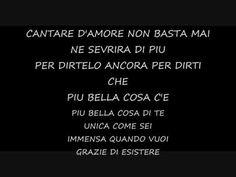 Eros Ramazzotti - Piu Bella Cosa + LYRICS Crazy Love, My Love, Karaoke, Manu Chao, The Brothers Karamazov, 21st Century Fox, Oliver Stone, Love Matters, Italian Language